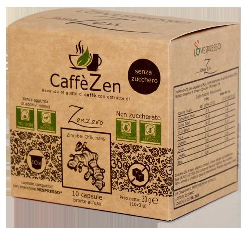 CaffèZen senza zucchero- 10 Capsule compatibili nespresso